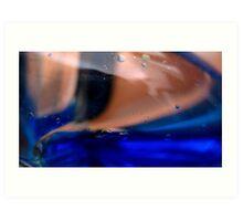 Blue waves Art Print