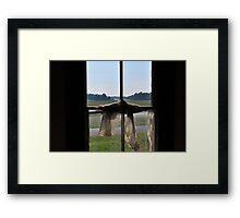 tangled curtain Framed Print