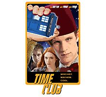 Time Club | Doctor Who | The Eleventh Doctor & Amy Pond & Rory Pond | Fez Photographic Print