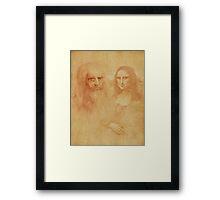"""Leonardo Da Vinci"" Framed Print"