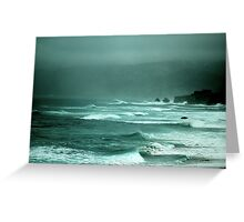 stormy water Greeting Card