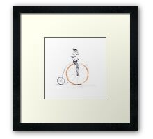 Morning cycle Framed Print