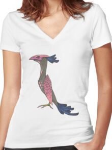 Azul Women's Fitted V-Neck T-Shirt