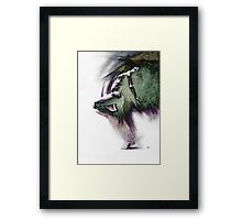 Fount i, conté drawing - textured   Framed Print
