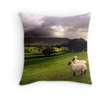 evening shower in the Dales Throw Pillow