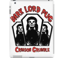 dark lord pug crimson coffin iPad Case/Skin