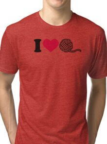 I love wool Tri-blend T-Shirt