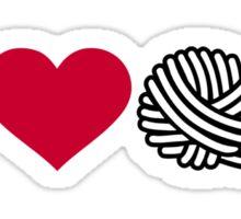 I love wool Sticker