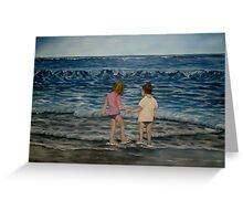 """Beach Kids"" - Oil Painting Greeting Card"
