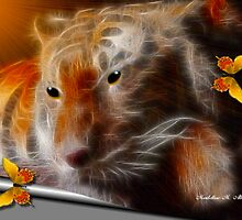 ~ TIGER AND THE BUTTERFLIES ~ by Madeline M  Allen