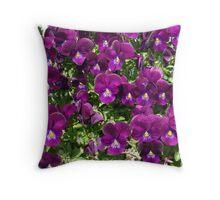 Purple Passion Posies! Throw Pillow