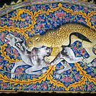 Leopard hunt on mosaic arch 	 by cascoly