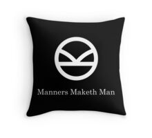 Kingsman Secret Service - Manners Maketh Man Throw Pillow