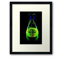 Beaker of  Sodium Fluorescein Framed Print