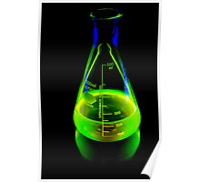 Beaker of  Sodium Fluorescein Poster