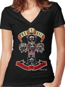 p 'n r appetite for everything Women's Fitted V-Neck T-Shirt