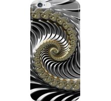 SILVER FRACTAL , 3D, heavy metal SKINS, GIFTS, DECOR  iPhone Case/Skin