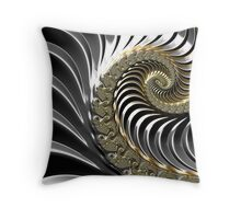 SILVER FRACTAL , 3D, heavy metal SKINS, GIFTS, DECOR  Throw Pillow
