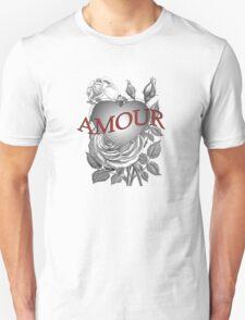 Amour Heart Rose Unisex T-Shirt