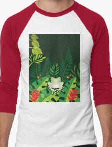 Green Tree Frog T-Shirt Men's Baseball ¾ T-Shirt