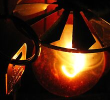 Key, Light~Bulb and String, Featuring Shadows. by Honor Kyne