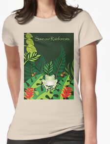 Save our Rainforests T-Shirt Womens Fitted T-Shirt