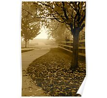 Pathway To Winter Poster
