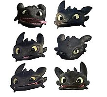 Toothless Faces Photographic Print