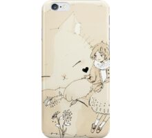 a chat with a cat iPhone Case/Skin