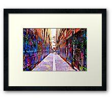 Bourke Street Mall - Alley 1 Framed Print