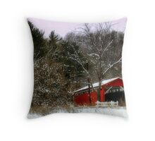 Morning Snow Throw Pillow