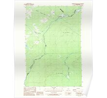 Maine USGS Historical Map Hardwood Mountain SW 105192 1989 24000 Poster