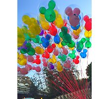 Disneyland Balloons Photographic Print