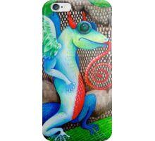 dragon lizard tattoo style art iPhone Case/Skin