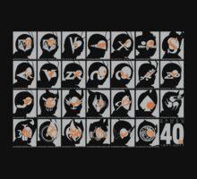Kamen Rider 40th Anniversary 1971-2011 (Grey and Orange) by calicostonewolf