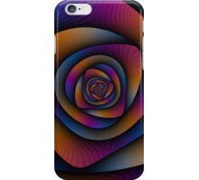 Spiral Labyrinth in Blue Orange and Pink iPhone Case/Skin