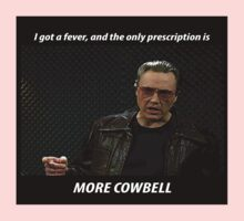 More Cowbell SNL Christopher Walken Shirt Kids Clothes