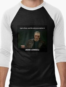 More Cowbell SNL Christopher Walken Shirt Men's Baseball ¾ T-Shirt