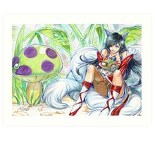 ahri hugging teemo~ Art Print