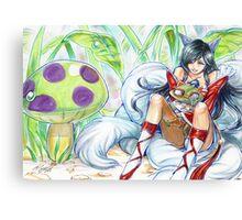 ahri hugging teemo~ Canvas Print