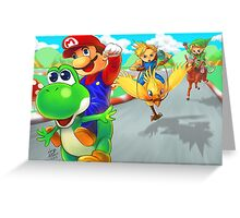 mario racing Greeting Card