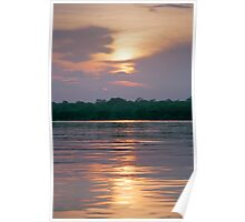 Sunset on the Amazon River, Brazil Poster