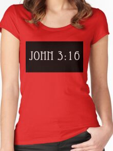 John 3:16 Women's Fitted Scoop T-Shirt