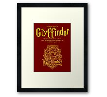 Gryffindor Harry Potter House Poster Framed Print