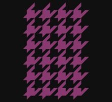 Houndstooth - Hot Pink / Black by Surpryse