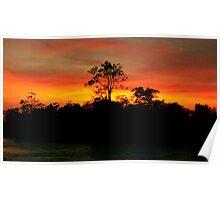 Sunrise on the Amazon River, Brazil Poster