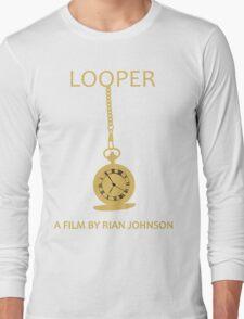 Looper Minimalist Movie Design Long Sleeve T-Shirt