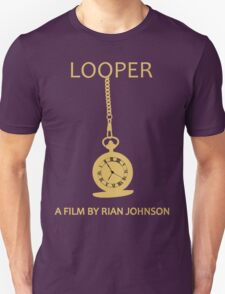 Looper Minimalist Movie Design Unisex T-Shirt