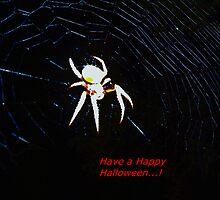 Talking Halloween spider by ♥⊱ B. Randi Bailey