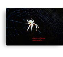 Talking Halloween spider Canvas Print